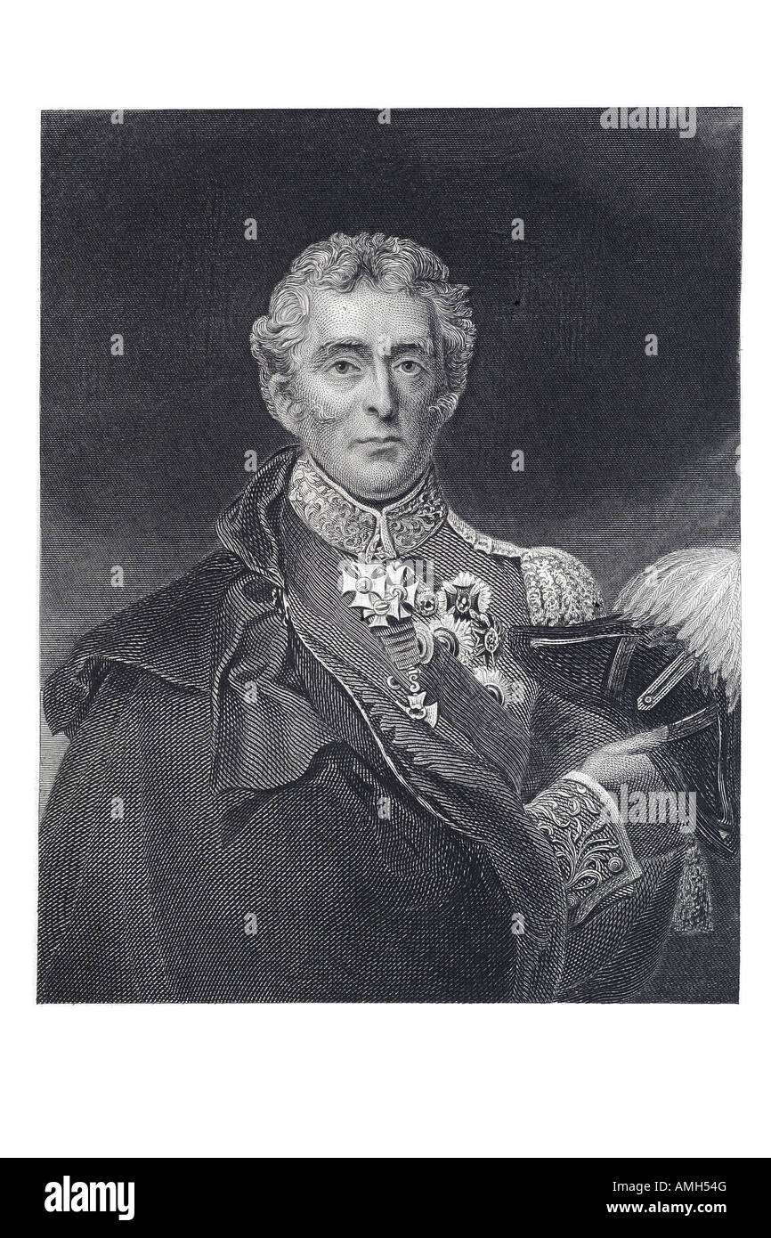 Arthur Wellesley 1st Duke of Wellington British soldier statesman 1769 1852 commanded victorious British forces - Stock Image