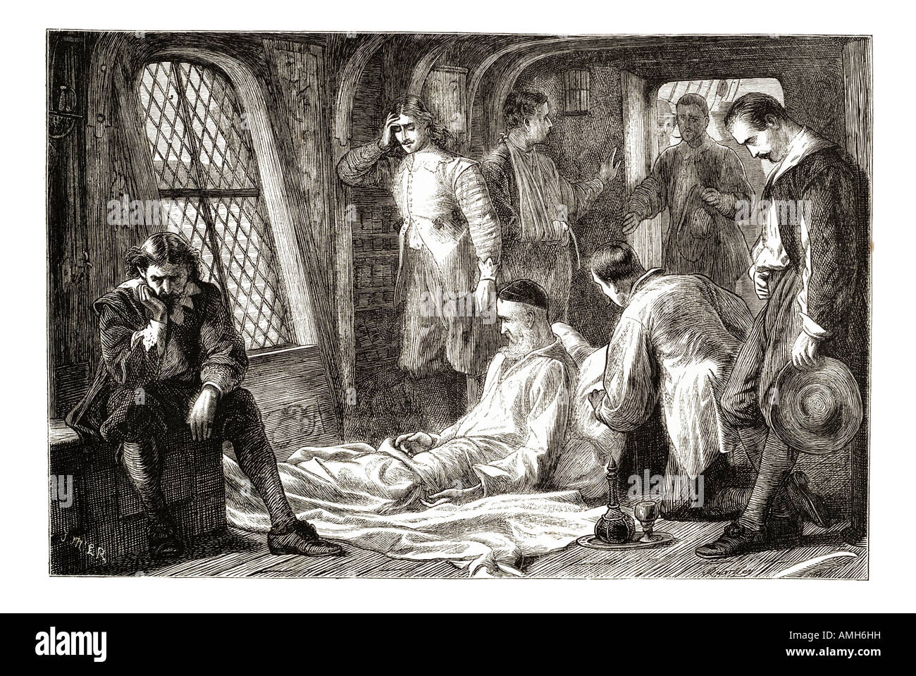 death Robert Blake 1599 1657 military commander Commonwealth  England english famous admiral Member Parliament Siege - Stock Image