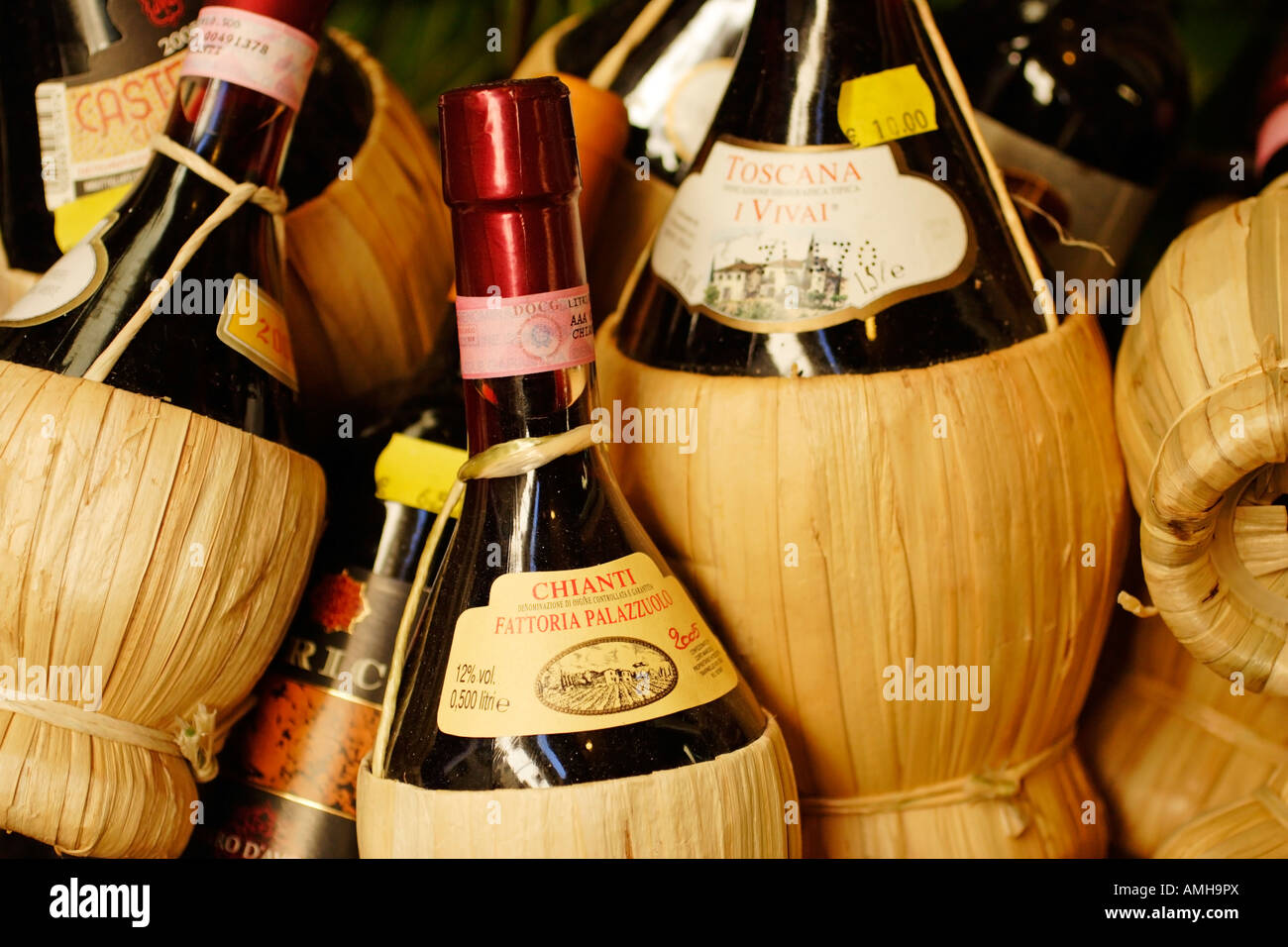 Italian Chianti wine for sale in Florence, Tuscany, Italy
