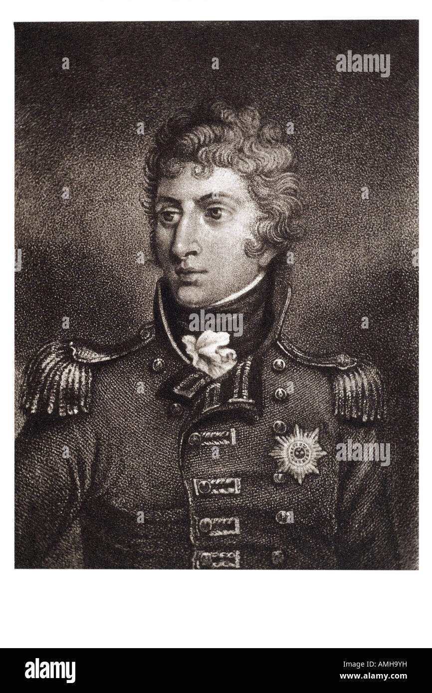 governor general canada 1816 18 sir john cope Coape sherbrooke 1764 1830 British soldier and colonial administrator Stock Photo