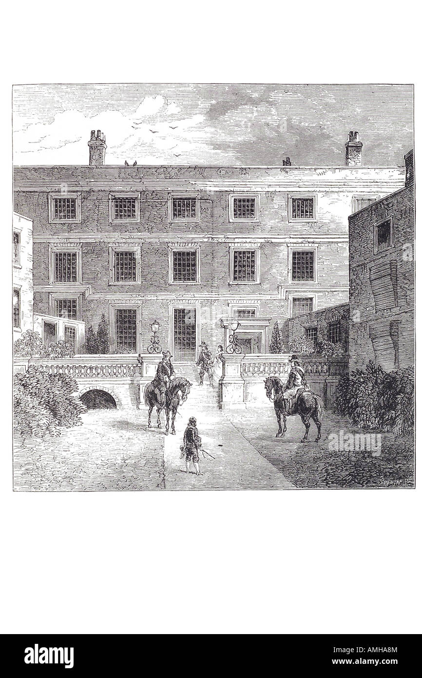 1672 sir robert claton lord mayor house garden number 8 old Jewery Jew London City capital England English Britain - Stock Image