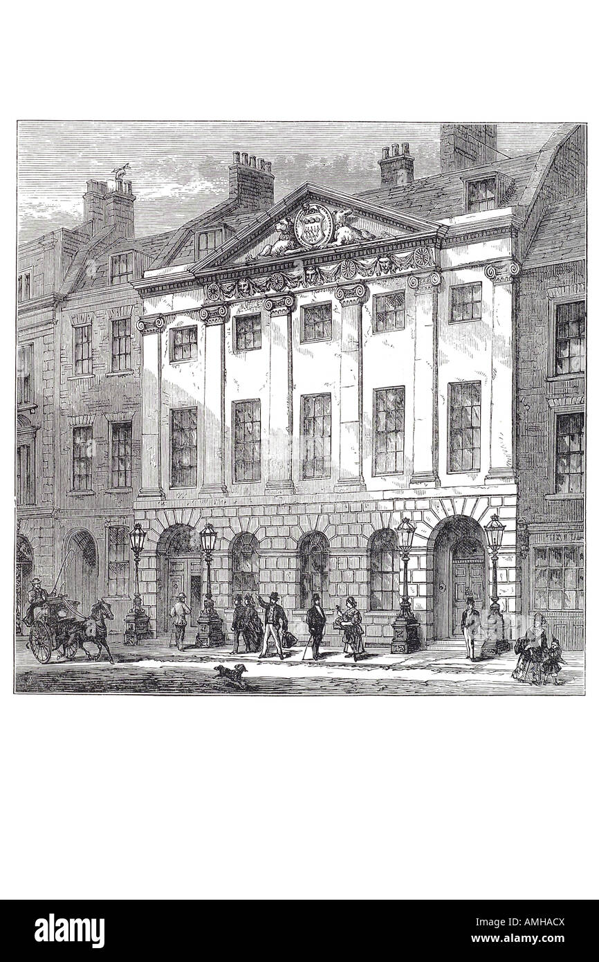 hall skinner's Livery  company Dowgate Hill, City Guild production sale fur trade profession apprenticeship - Stock Image