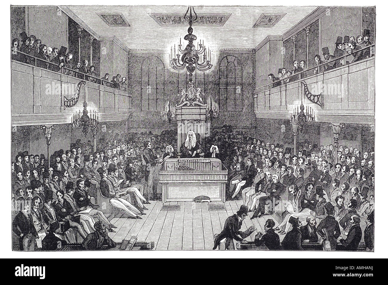 1834 house of commons elected lower house bicameral parliament Palace democratically elected Westminster member - Stock Image