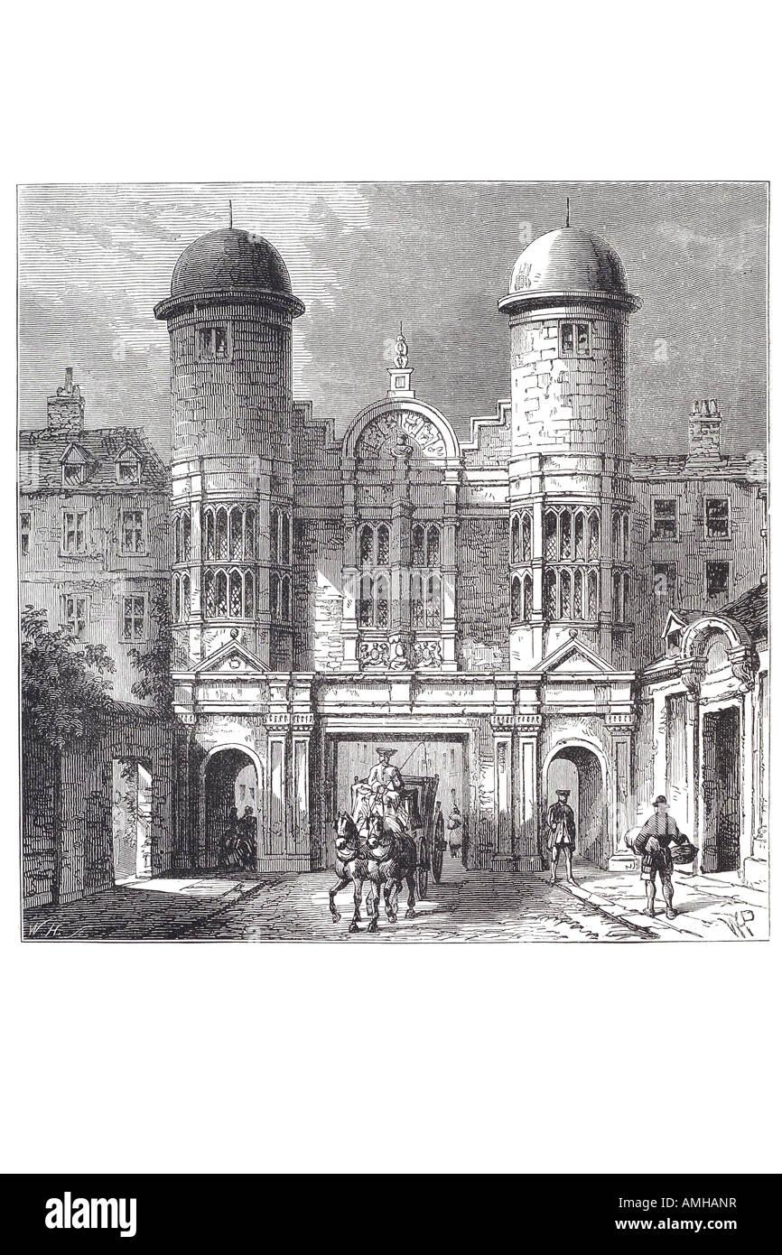 1700 king street gateway Whitehall demolished 1723 London Greater capital city England English Britain British UK - Stock Image