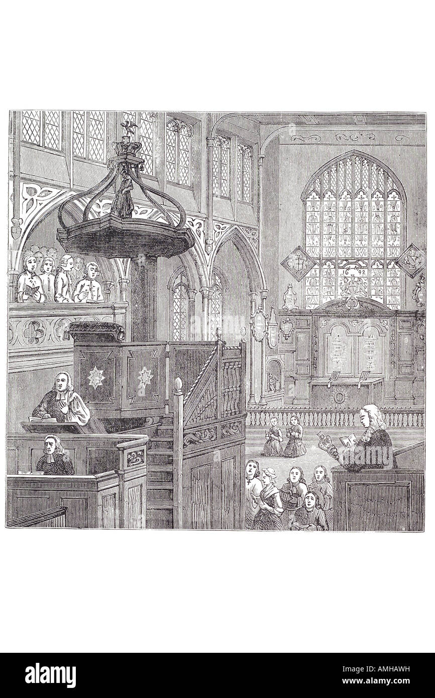 1695 st margaret's saint church Chapel Westminster central London Greater capital city England English Britain - Stock Image