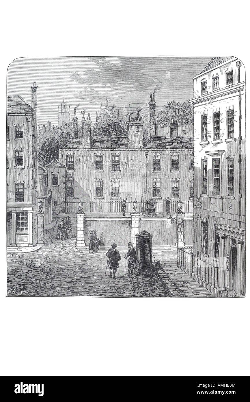 1709 carlton club high society club private ladies gentlemen social entertainment front façade Central London - Stock Image