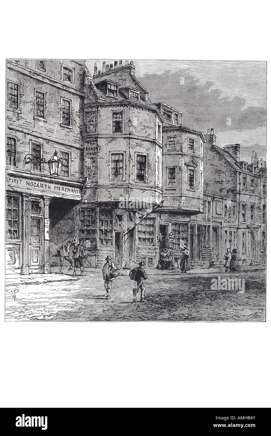 1800 house king street legend occupied mother oliver cromwell Central London City royal urban London Greater capital - Stock Image