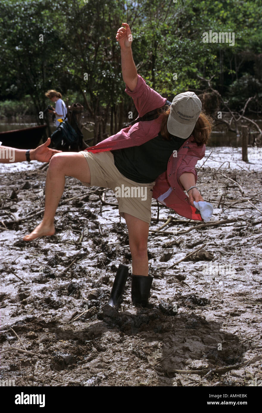 Girl Stuck Mud