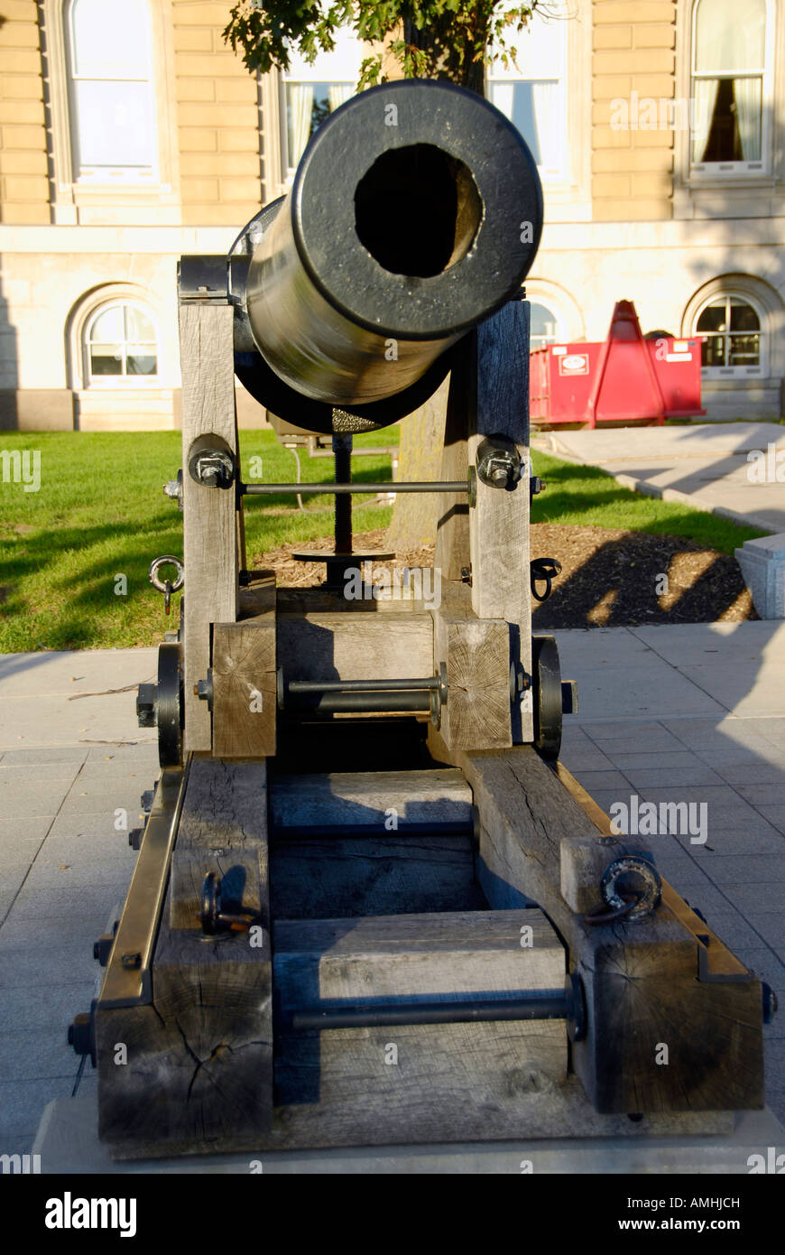 Cannon Monument on the grounds of The State Capitol Building at Des Moines Iowa IA - Stock Image