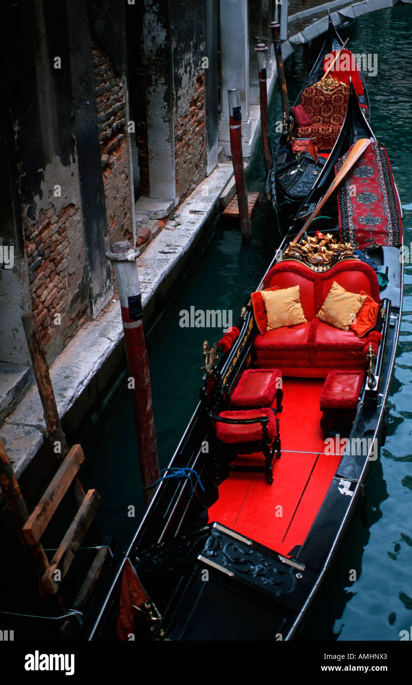 Venedig, Kanal, Gondeln - Stock Image