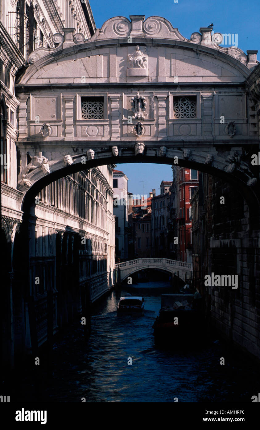 Venedig, Stadtteil San Marco, Ponte dei Sospiri, Seufzerbrücke - Stock Image