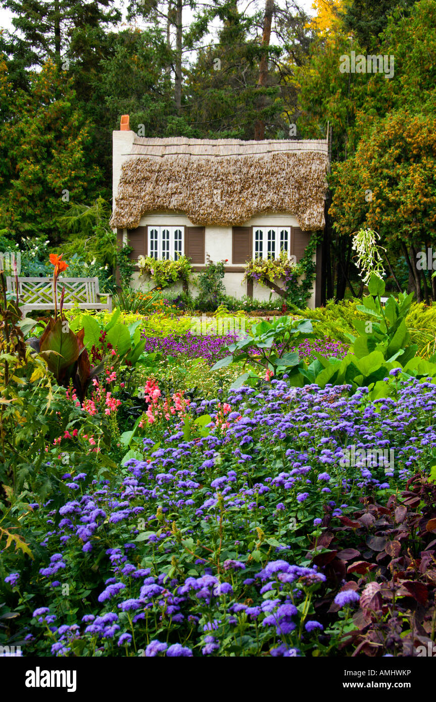 grandma's cottage in the english flower gardens of assiniboine park