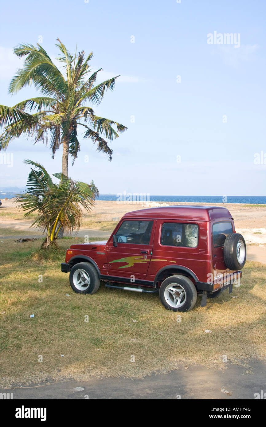 Rented Jeep Vehicle Bali Indonesia - Stock Image