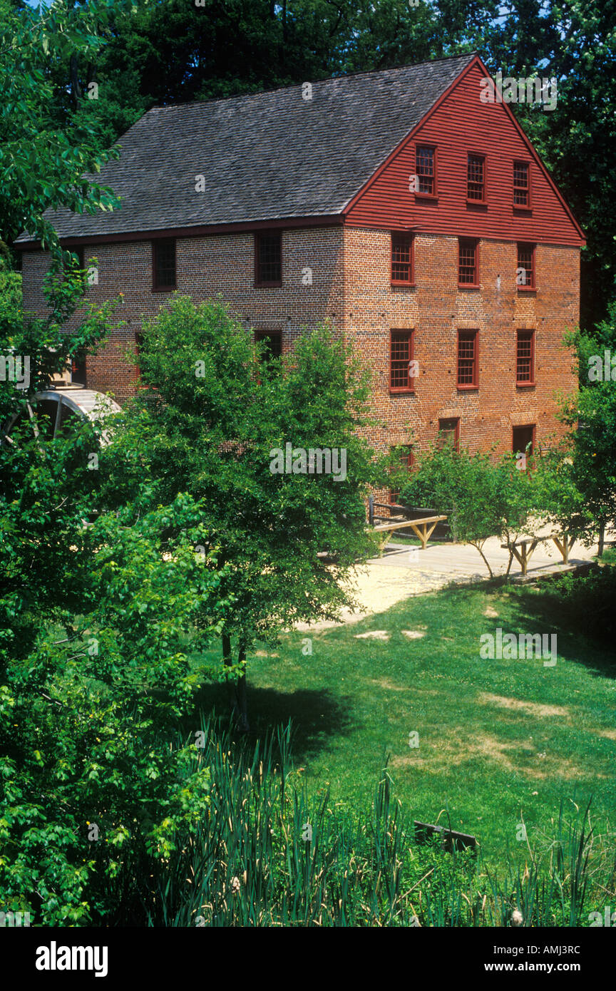 Colvin Run Grist Mill Fairfax VA - Stock Image