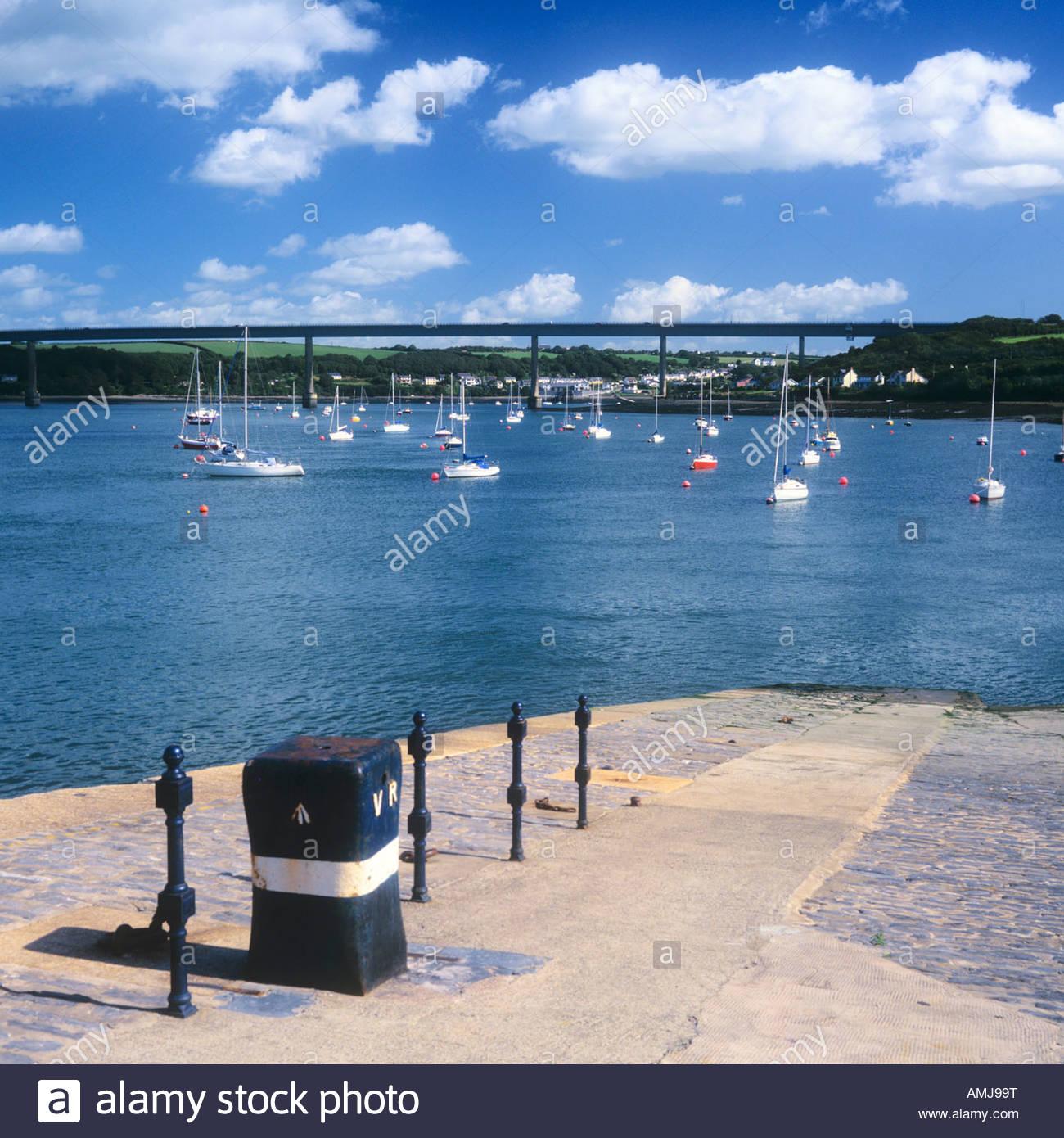 Hobb's Point on Daugleddau River at Pembroke Dock Wales UK - Stock Image