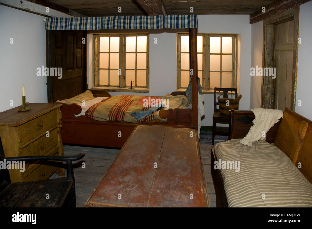 Single room rear building apartment from year 1773 - Stock Image