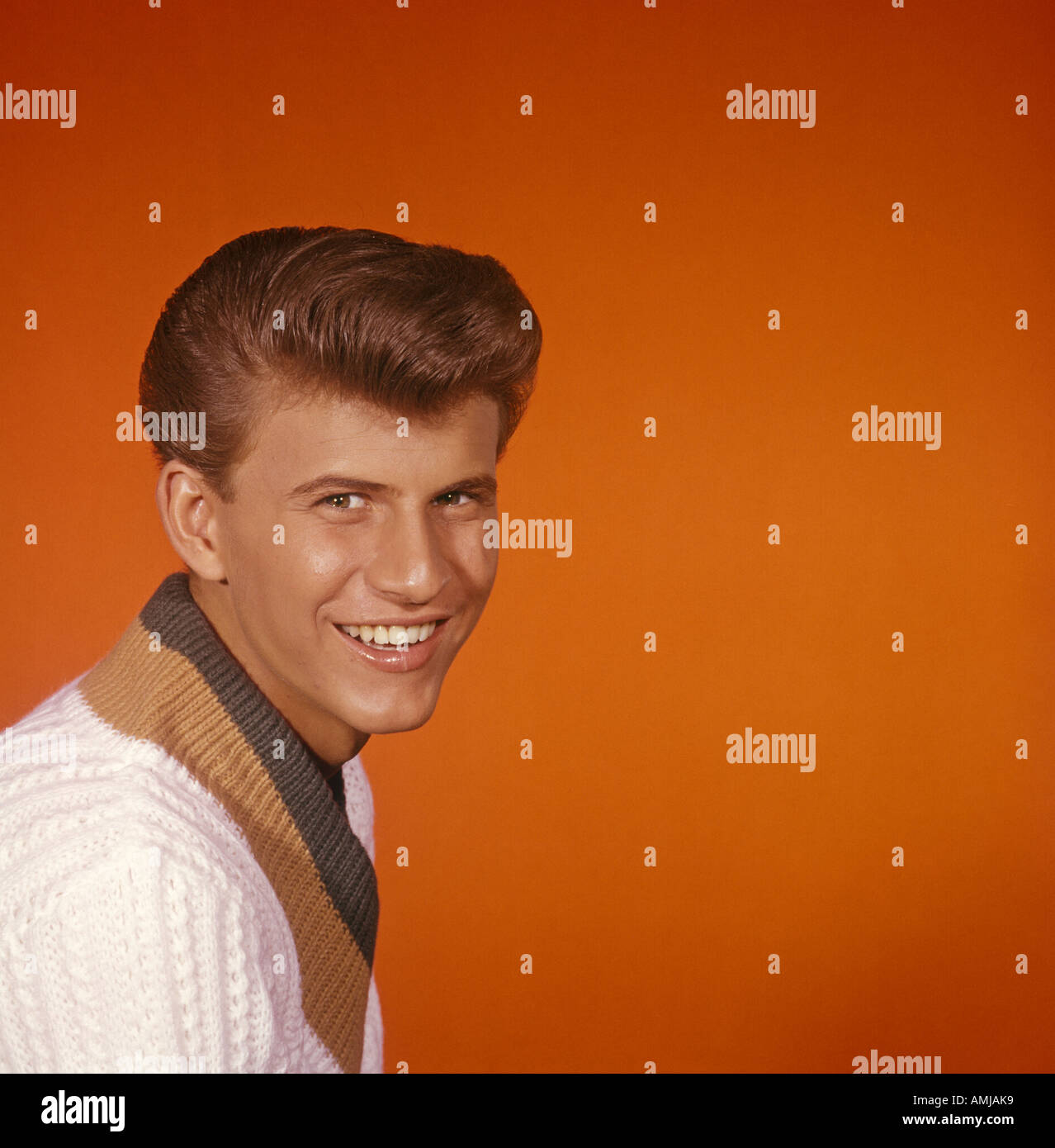 Bobby Rydell in publicity portrait 1959 61 Stock Photo