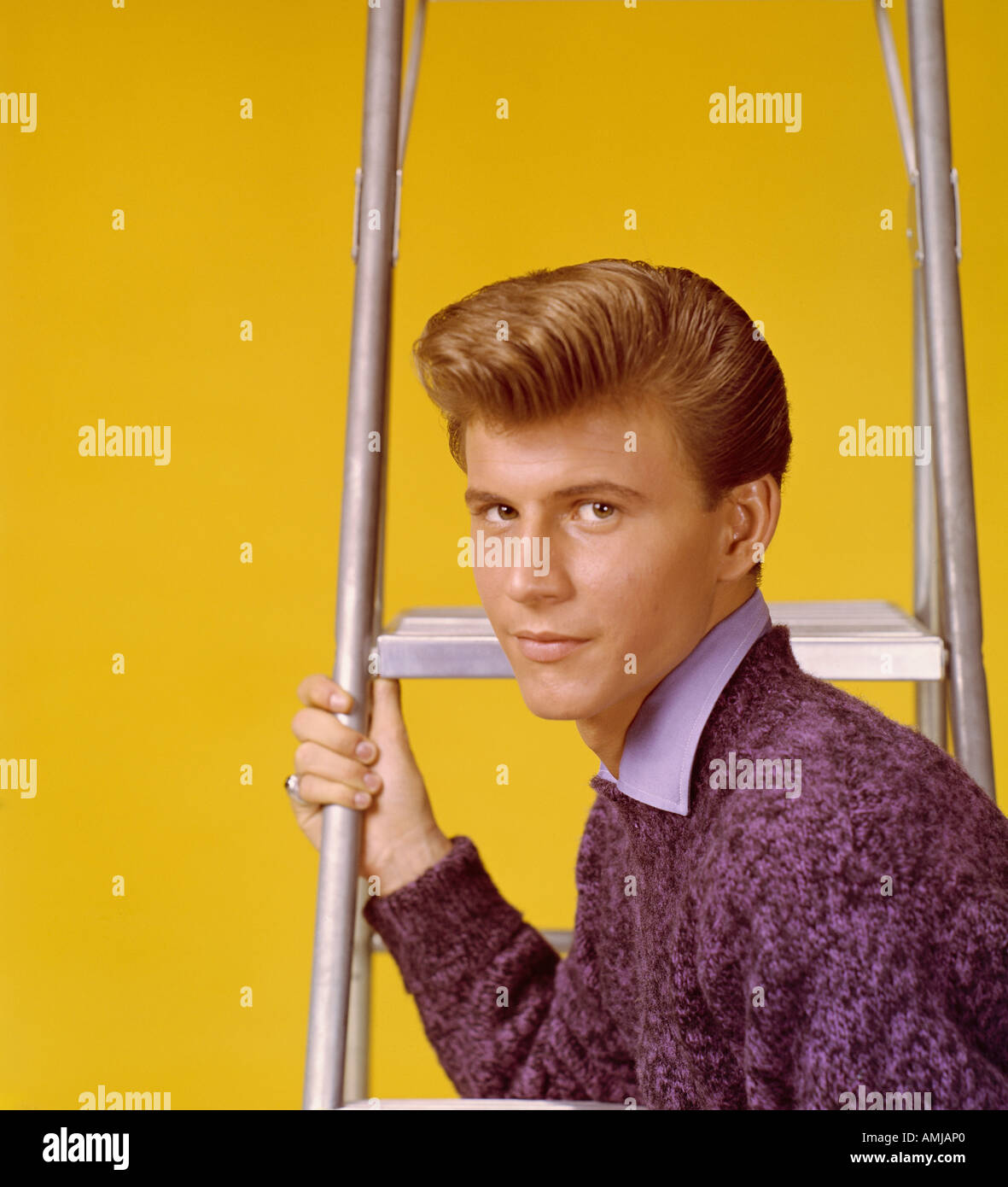 Bobby Rydell in publicity portrait 1959 61 - Stock Image