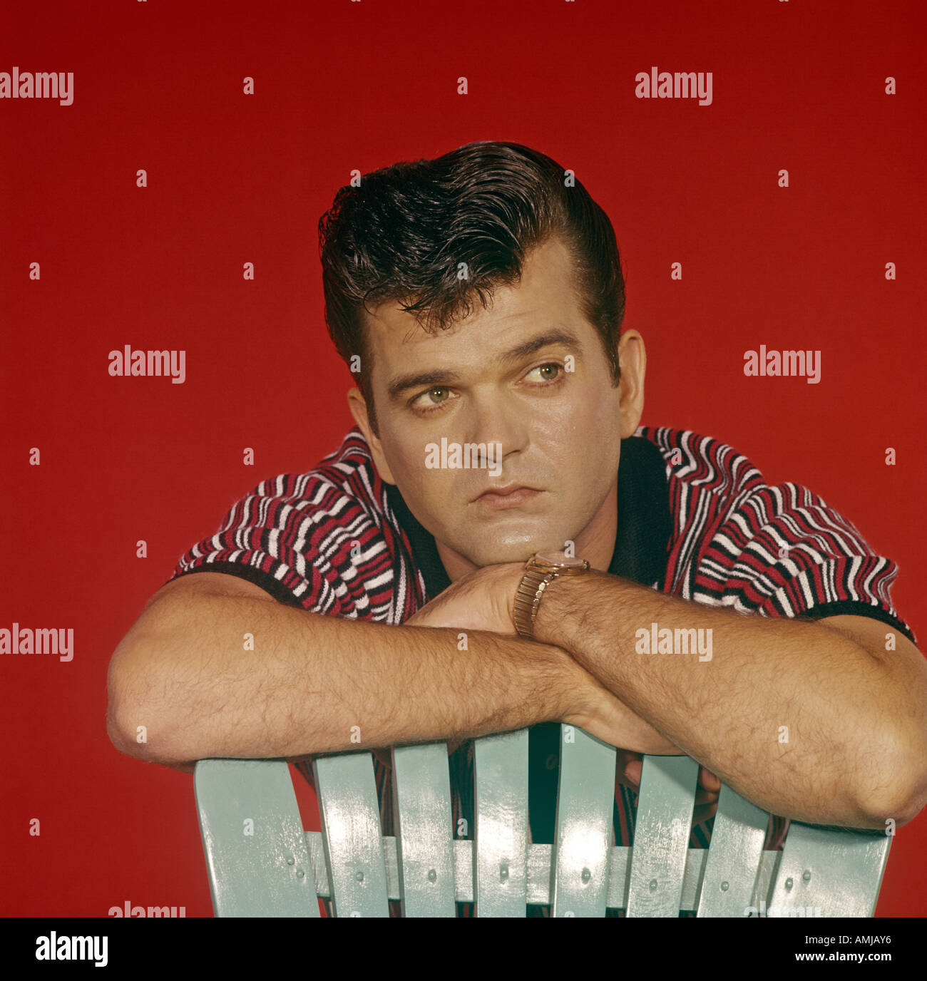Conway Twitty in publicity portrait 1959 61 - Stock Image