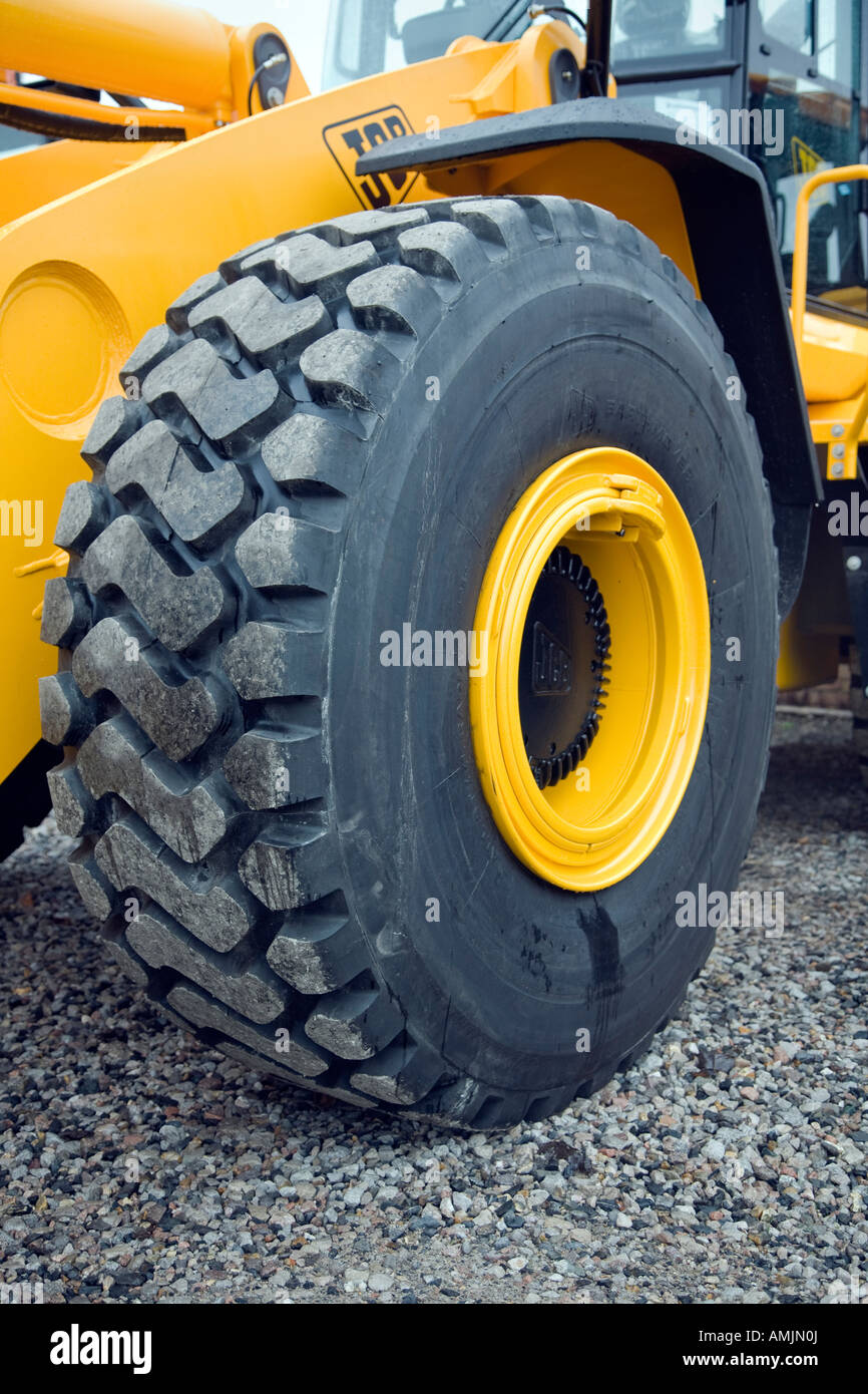 large pneumatic tyre with effective grip in the tread - Stock Image