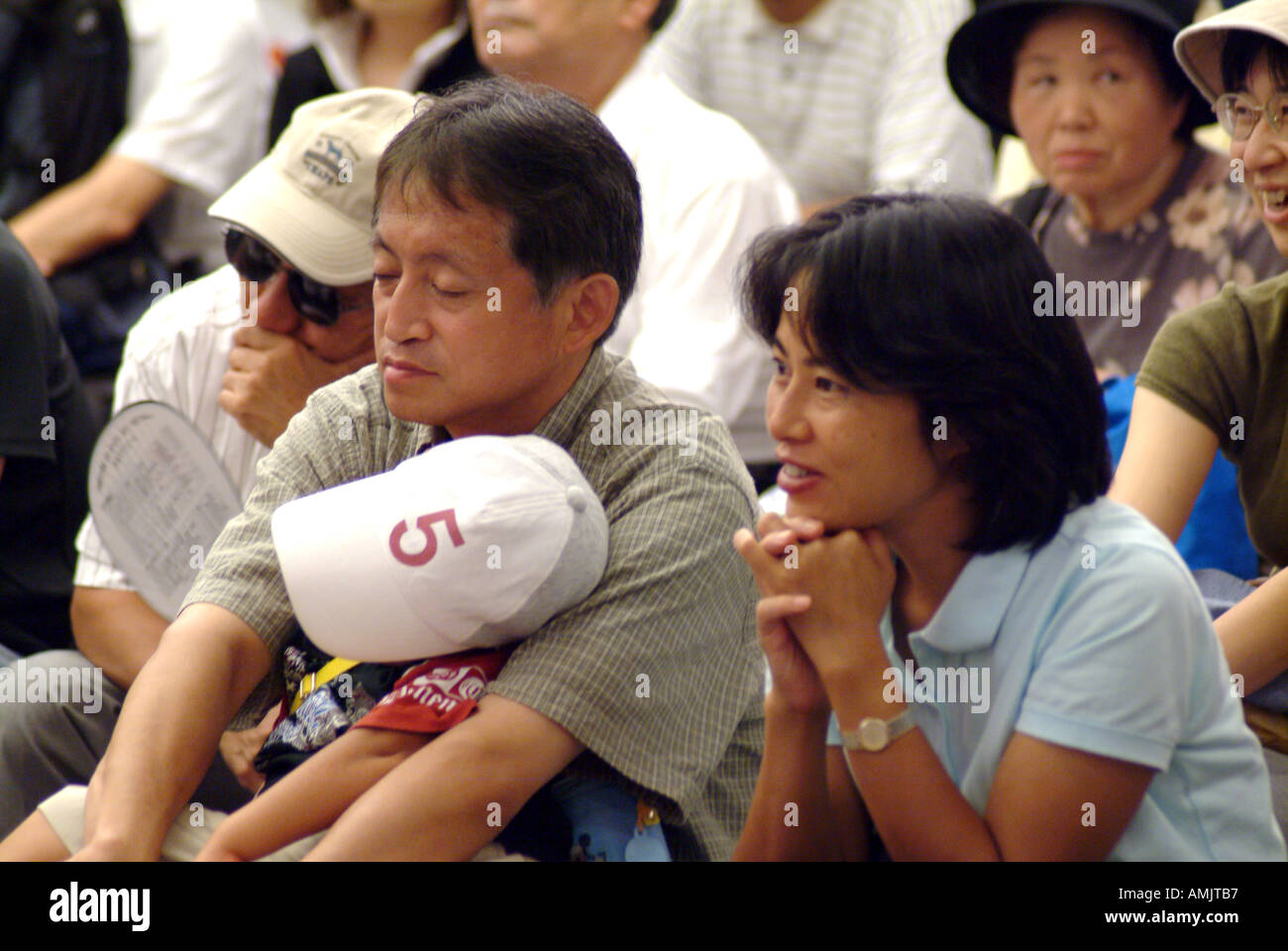 Audience at a concert Kyoto Japan performance concert Japanese JaPix  - Stock Image