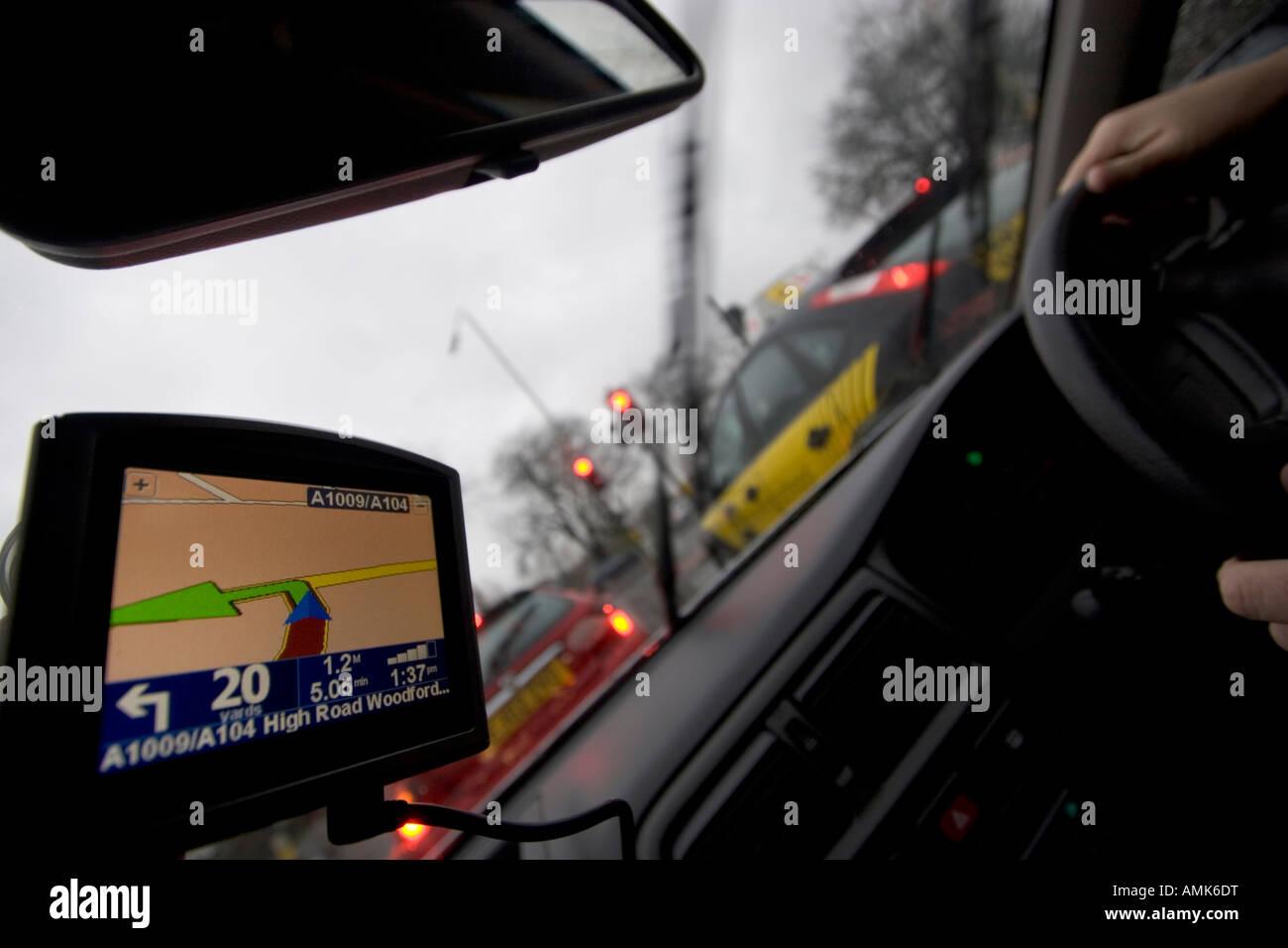 Satellite navigation for cars tom tom tom tom tomtom - Stock Image