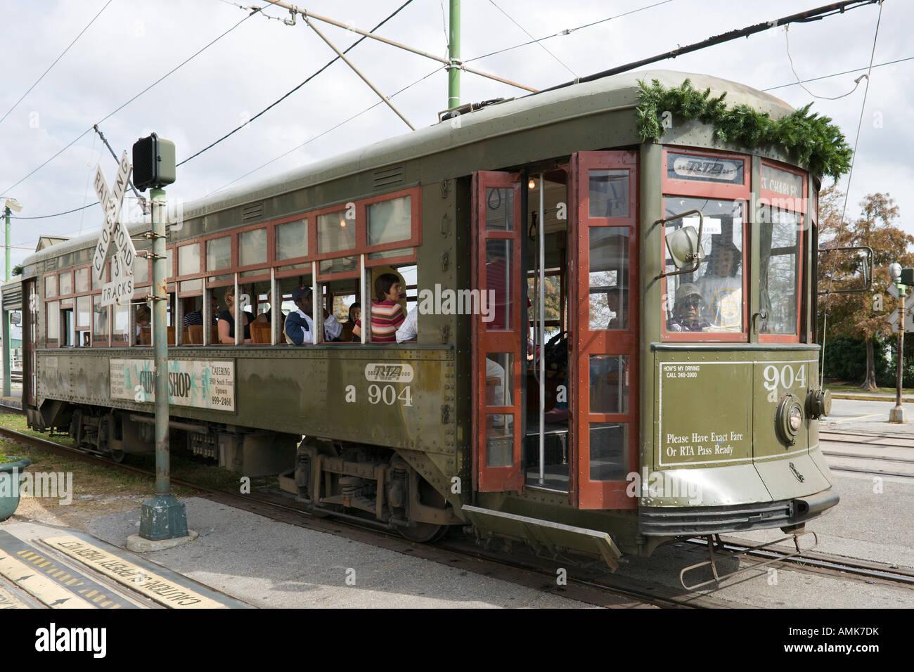 Riverfront Streetcar French Quarter New Orleans Lousiana Usa Amk Dk