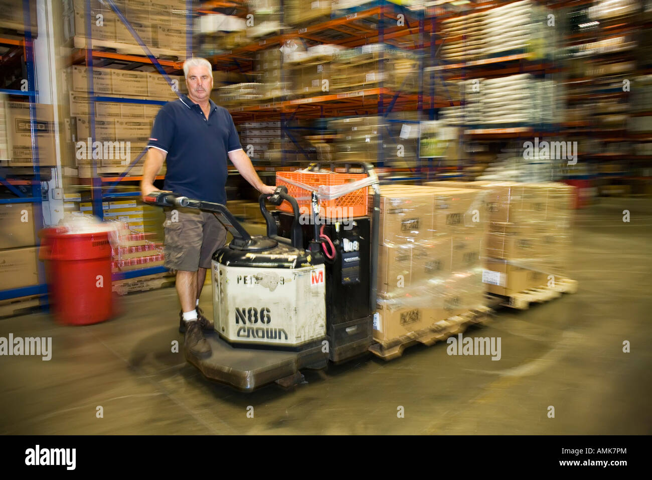 Food service warehouse - Stock Image