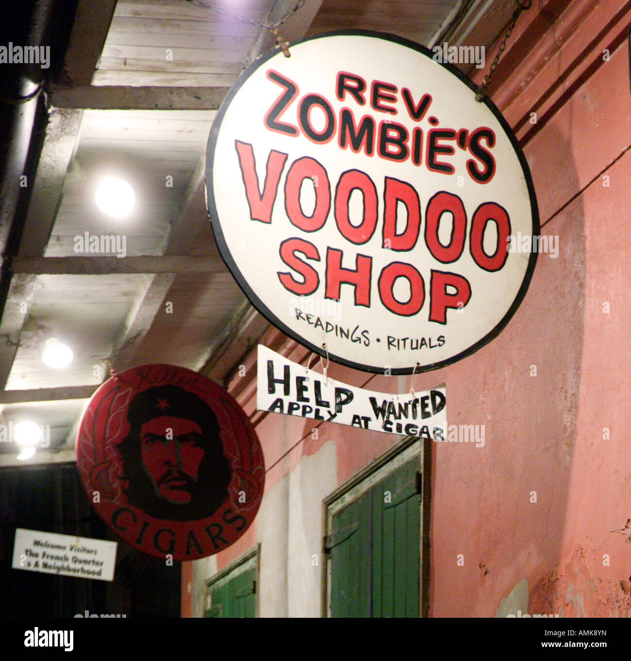 Voodoo Shop Off Bourbon Street, French Quarter, New Orleans, Lousiana, USA - Stock Image
