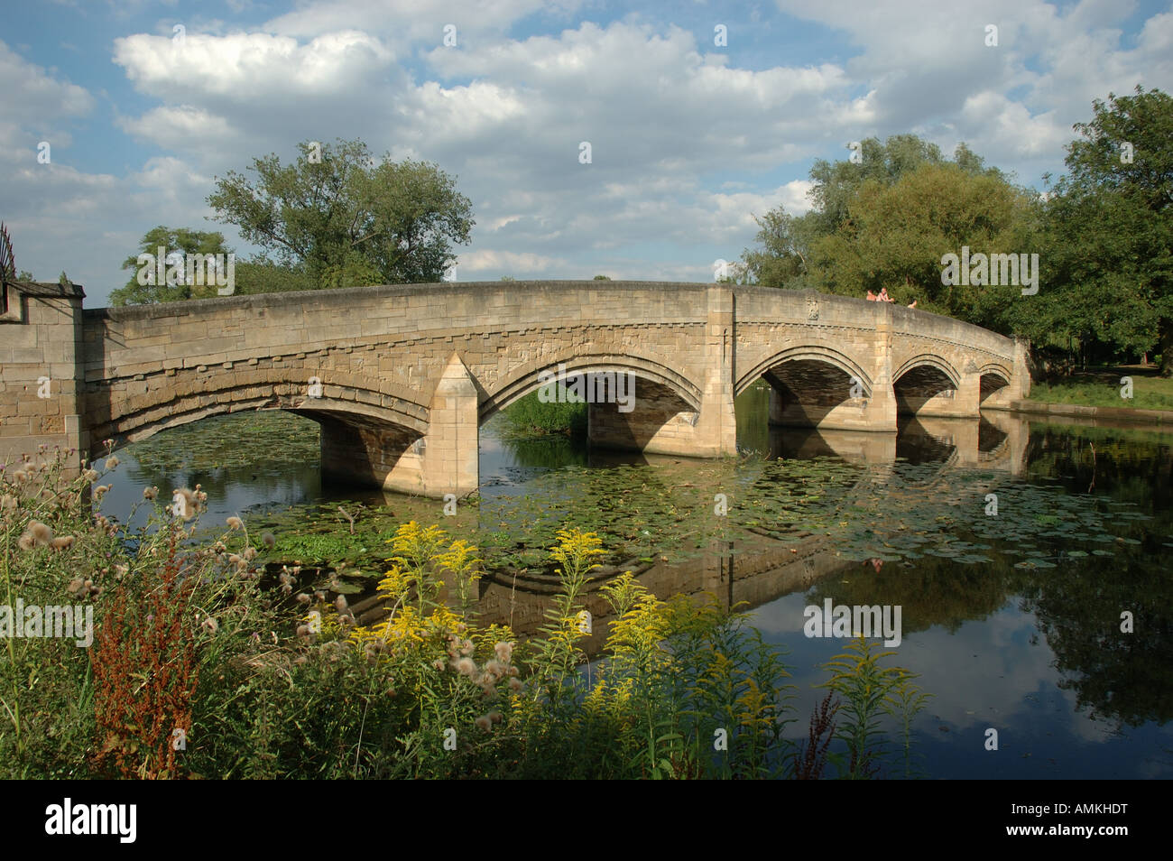 the River Soar, Abbey Park, Leicester, England, UK - Stock Image