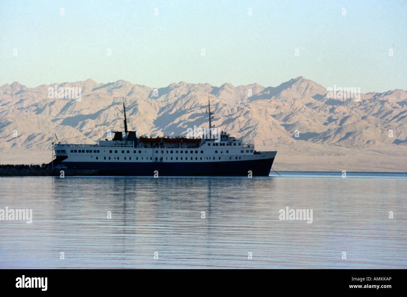 Sinai Egypt Nuweiba Farah II Ferry Boat - Stock Image