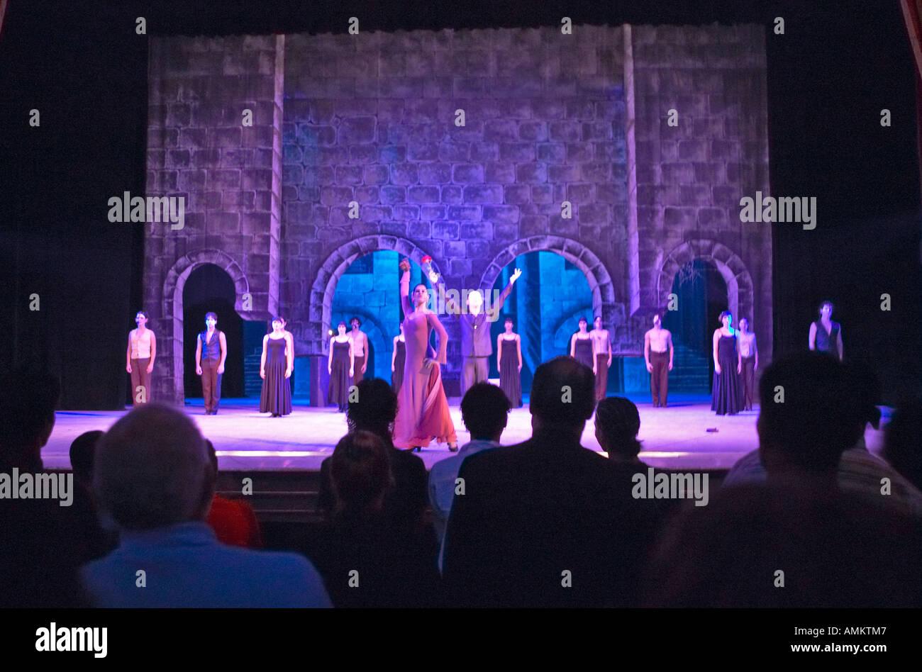 Dancers performing to Phantom of the Opera in Grand Teatro in Old Havana Cuba - Stock Image