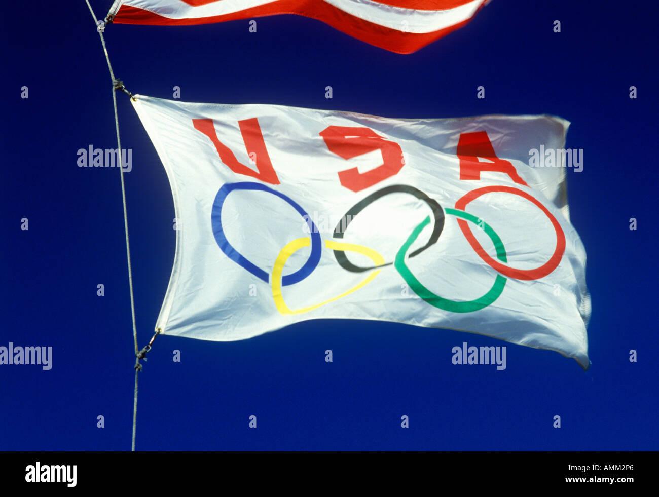USA Olympic flag - Stock Image