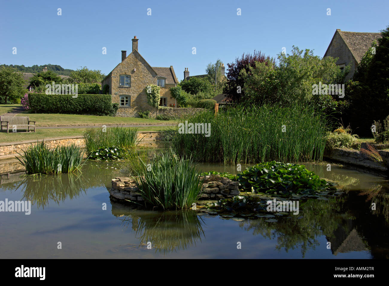 Willersey Village green Gloucestershire England July 2006 Stock Photo