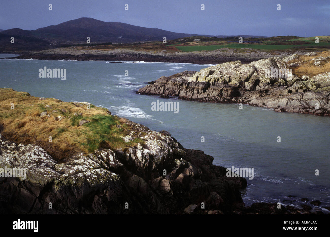 rocks near Toormoor, West Cork Ireland - Stock Image
