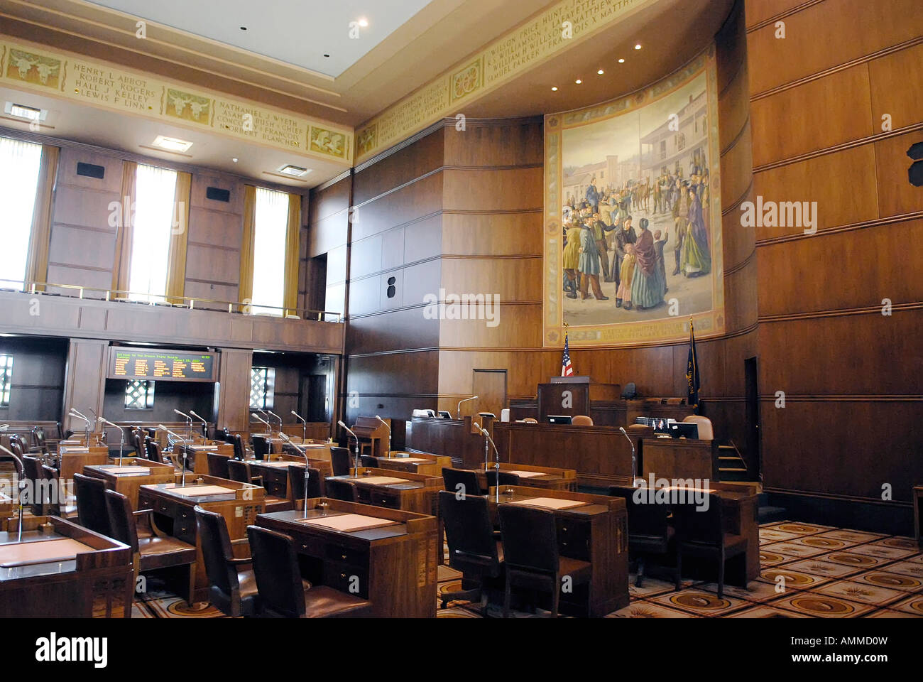 House Chambers Capitol interior Building Salem Oregon OR US United