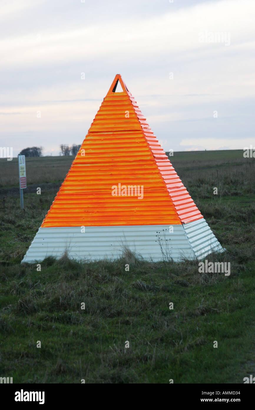 Salisbury plain training area wiltshire england uk Ranging target for artillary - Stock Image