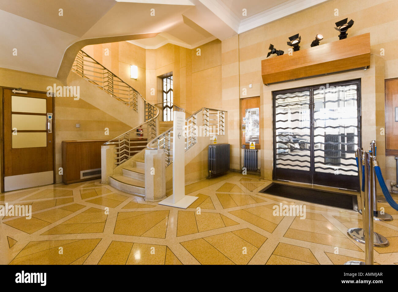 art deco hallway interior st olaf house london stock photo 15297310