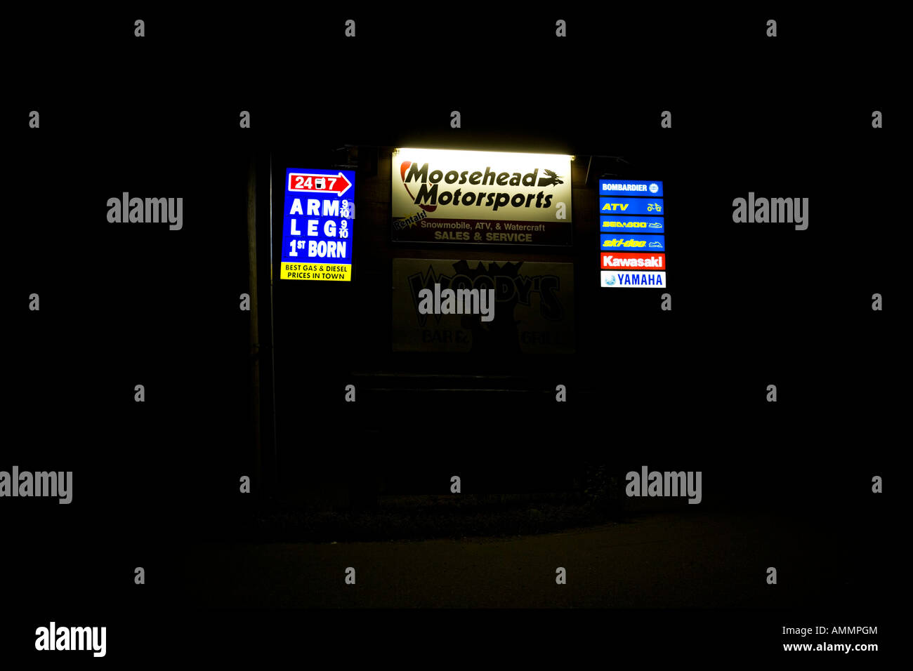 High gas prices Greenville Maine - Stock Image