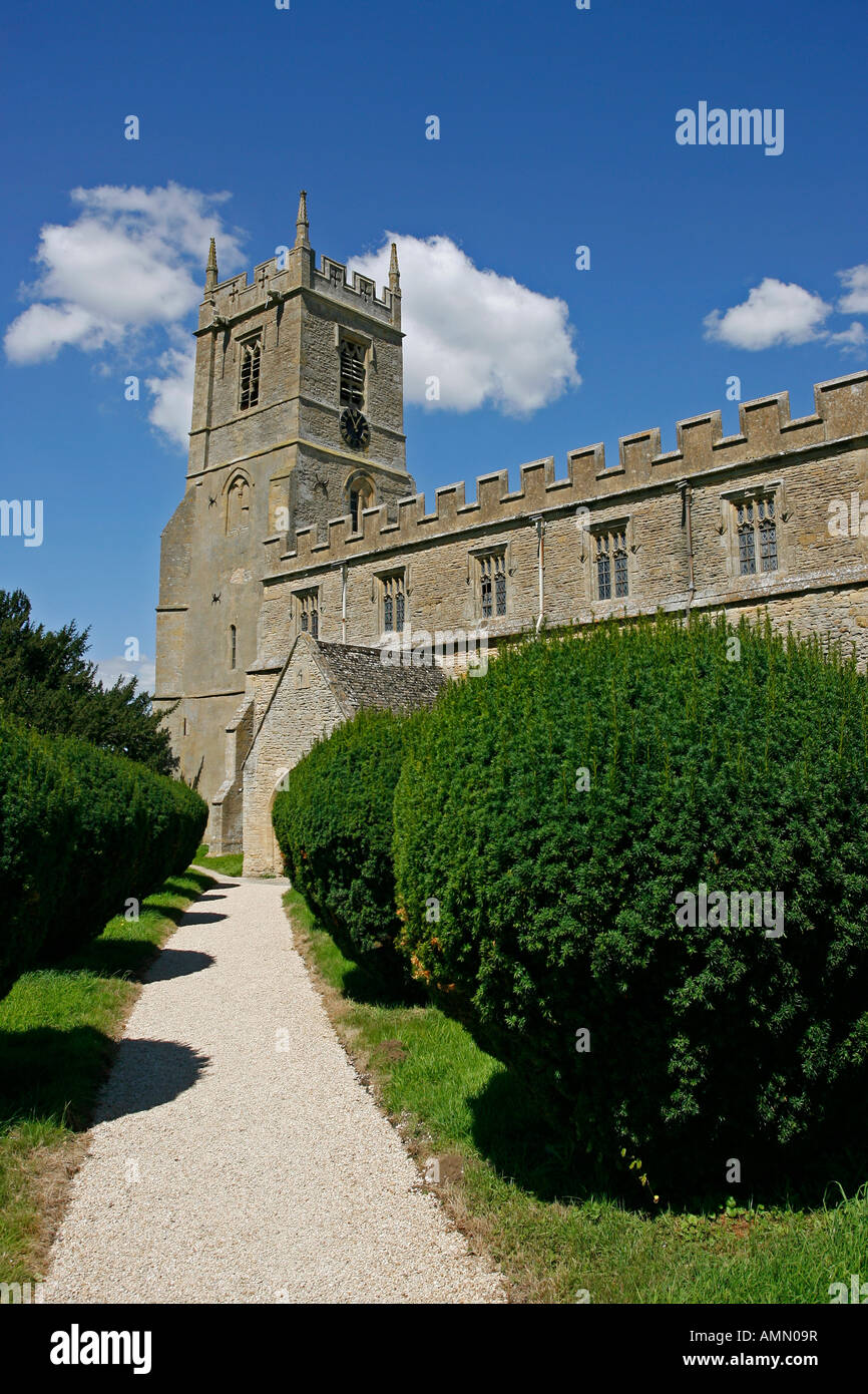 Parish Church of St Peter St Paul Long Compton Warwickshire England UK - Stock Image