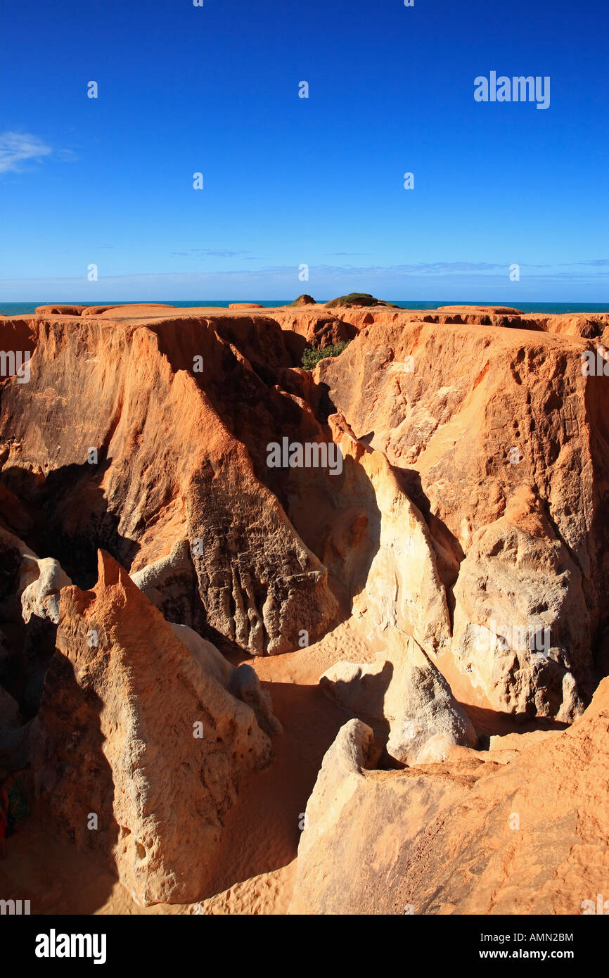 the Labyrinth between morro branco and beberibe near fortaleza ceara state brazil Stock Photo