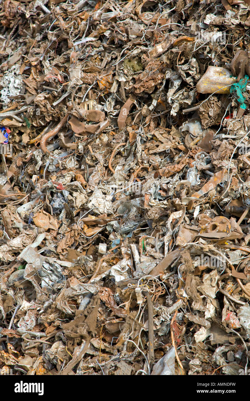 Rusty scrap metal to be recycled - Stock Image