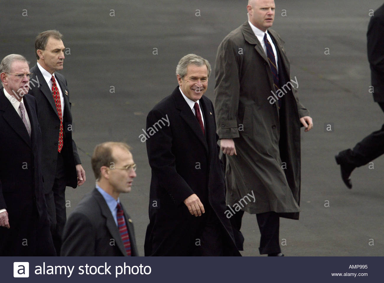 President George W Bush on a visit to Northern Ireland Stock Photo