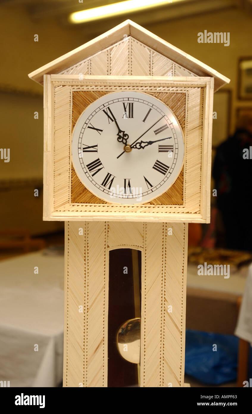 Matchstick clock - Stock Image