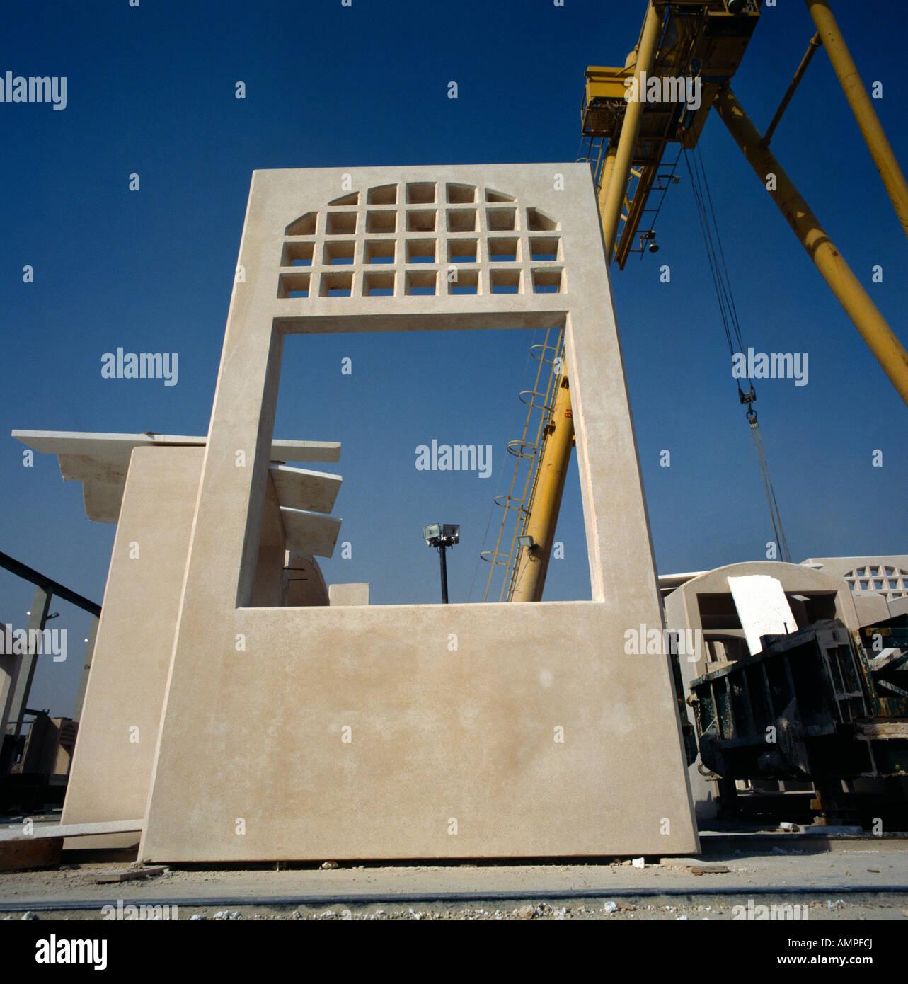 Prefabricated Panels Construction Stock Photos
