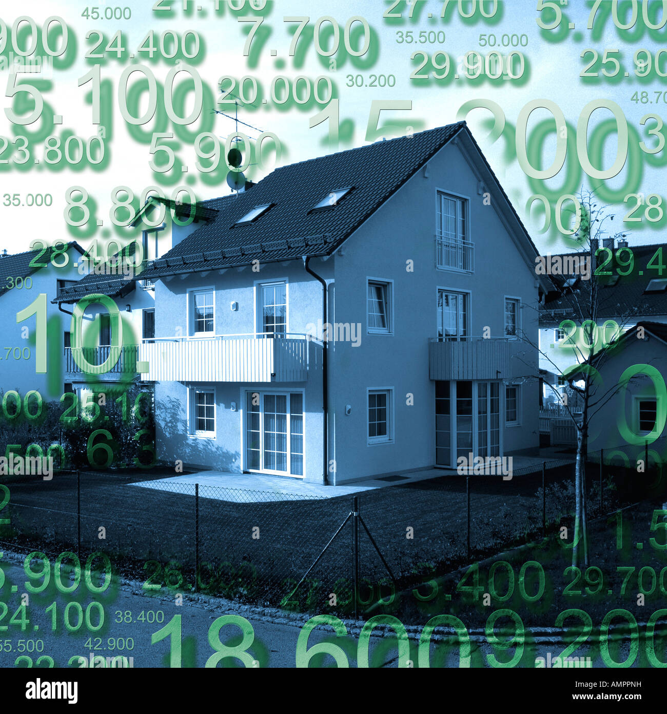Building costs Stock Photo