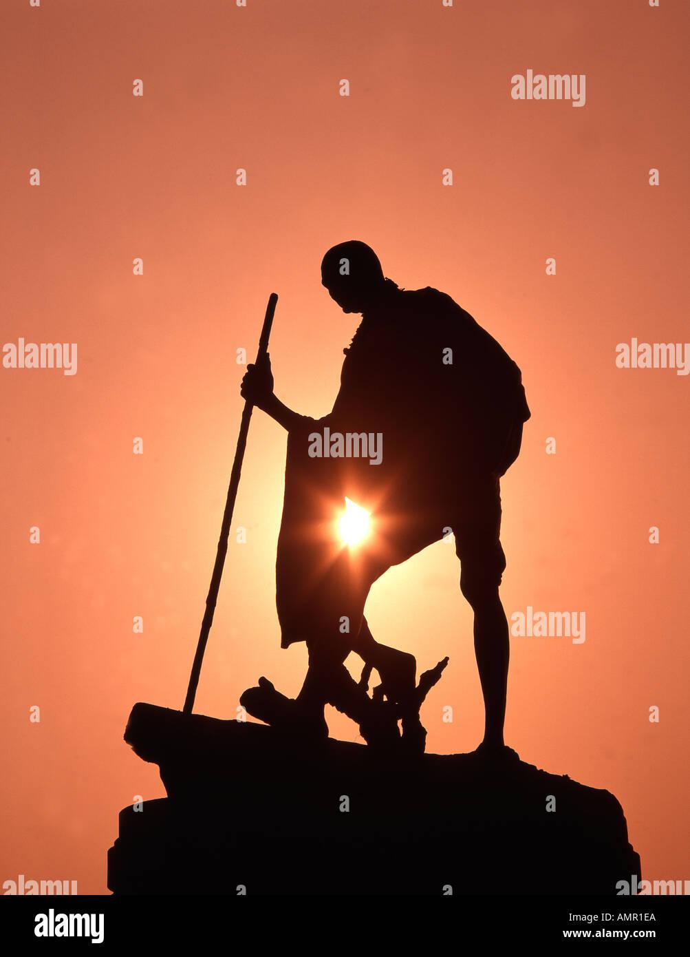 India Tamil Nadu Chennai Mahatma Gandhi - Stock Image