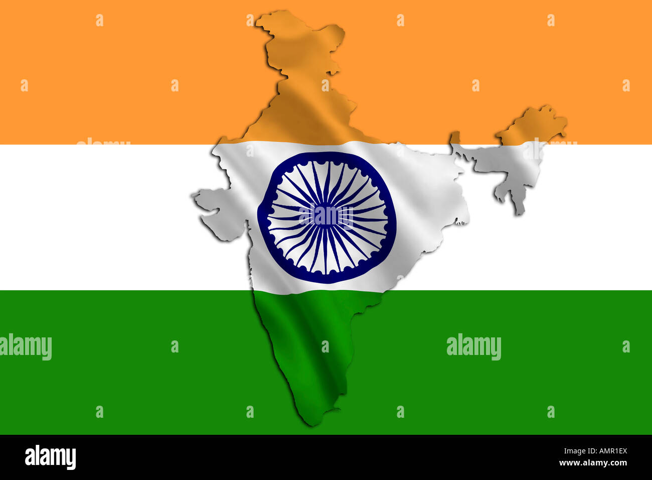 India Map Flag.India Map And Flag Design Stock Photo 15319873 Alamy
