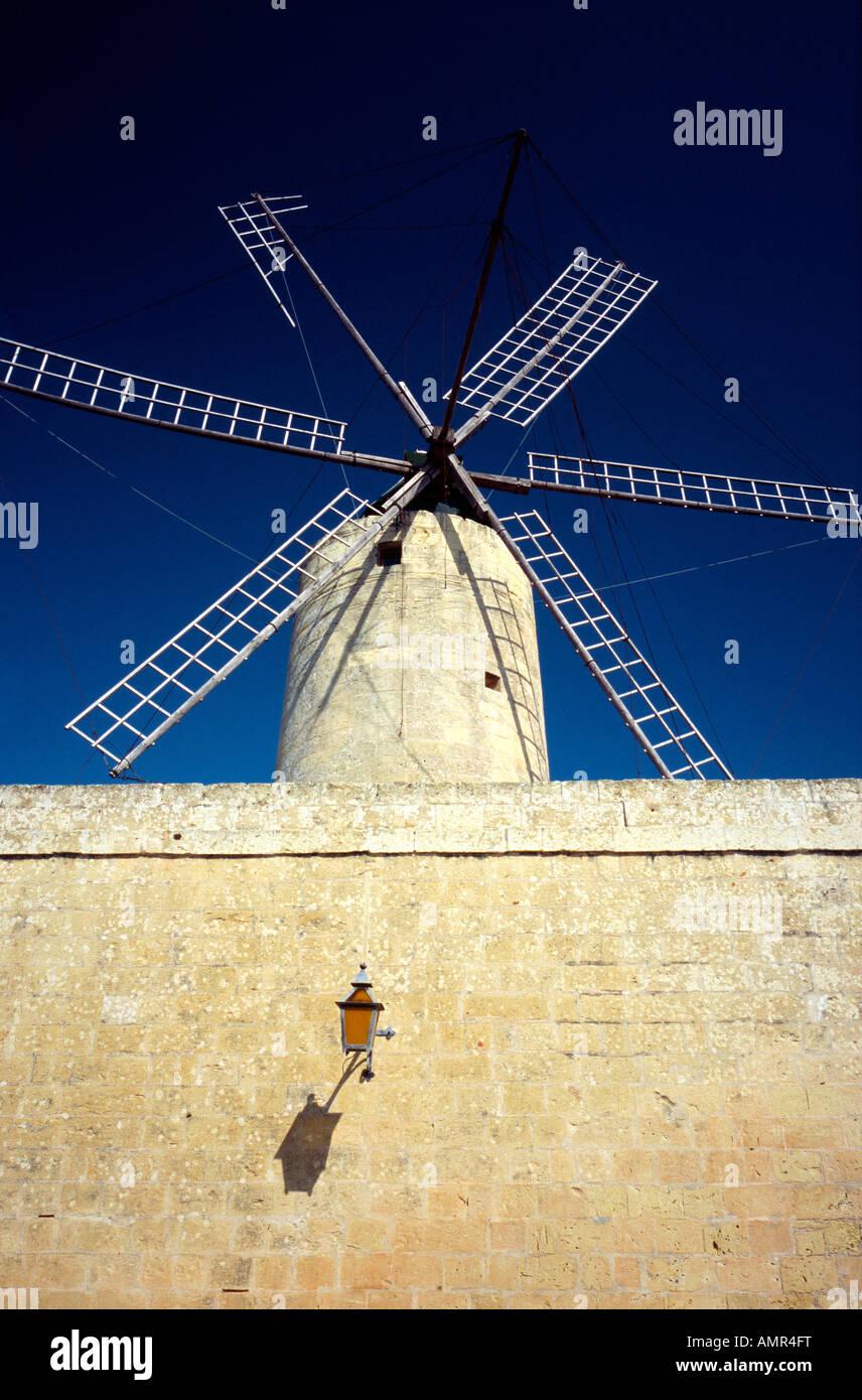 Ta Kola Windmill in Xaghra on the Maltese island of Gozo. - Stock Image