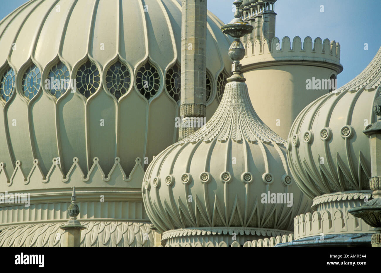 Brighton Pavillion close up of domes and turrets in regency Brighton East Sussex England UK GB EU Europe Stock Photo